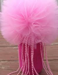 tulle pom poms 1 tulle pom poms bead jar centerpiece party decoration