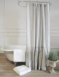 Gray Ruffle Shower Curtain Best 25 Shower Curtains Ideas On Pinterest Bathroom Shower
