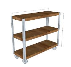 ana white easiest industrial cart diy projects