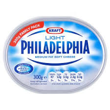 philadelphia light cream cheese spread kraft philadelphia light medium fat soft cheese 300g low fat
