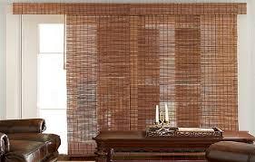 Bamboo Panel Curtains Sliding Glass Door Blinds Ideas Design Ideas U0026 Decors