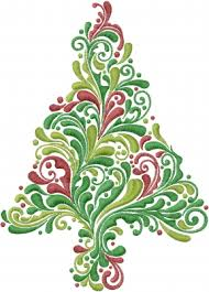 Christmas Tree Embroidery Designs