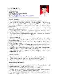 cv profile example graduate