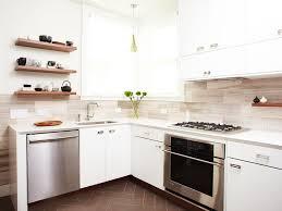 interior elegant travertine backsplash in kitchen contemporary