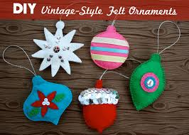 diy vintage style felt ornaments mint green sewing machine