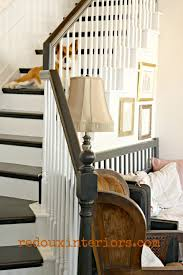 How To Paint A Banister Black Diy Black And White Staircase