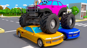 monster truck jam videos for kids new real race monster truck vs racing cars monster trucks video