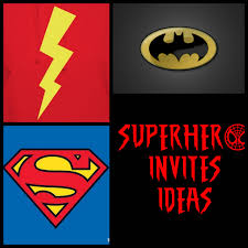 superhero birthday invitations template best template collection