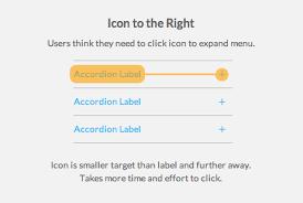 menu design resources where to place your accordion menu icons mockplus ux ui design