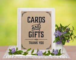 wedding gift table sign printable wedding reception sign cards and gifts sign rustic