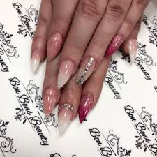 acrylic nails 3d chrome ombre mermaid full set shellac