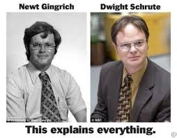 Newt Gingrich Meme - newt is just a pennsylvania beet farmer with a mean streak we know