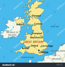 Northern Ireland Map Map United Kingdom Great Britain Northern Stock Vector 80867542