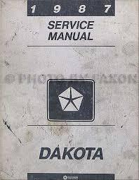 1987 dodge dakota rwd repair shop manual original