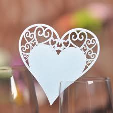 aliexpress com buy 50x paper laser cut heart table place escort