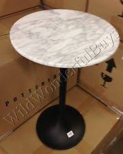 antique marble top pedestal table pottery barn connor side table wood carrara marble top furniture ebay