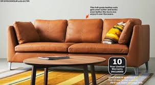 Leather Ikea Sofa Leather Faux Leather Couches Chairs Ottomans Ikea For Ikea Leather