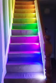 diy neopixel temperature stair lights with raspberry pi