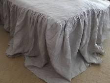 Skirted Coverlet 100 Linen Coverlets Ebay