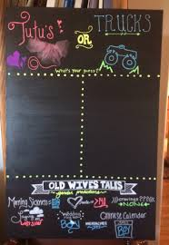 reveal party chalk boards gender reveal party old wives tales