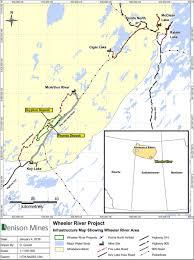Map Of Saskatchewan Denison Mines Corp Wheeler River Fri Sep 29 2017