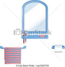 Bathroom For Kids - clip art vector of bathroom set vector elements in bathroom for