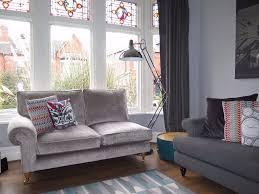 Chenille Chesterfield Sofa by Silver Grey Laura Ashley U0027kingston U0027 Sofa Chaise Caitlyn Crushed
