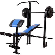 weight and bench set marcy classic mcb 252 combo bench with 120 lb weight set walmart com