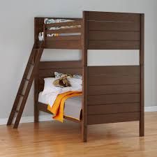 Bunk Bed With Crib On Bottom by Uptown Grey Twin Over Twin Bunk Bed The Land Of Nod