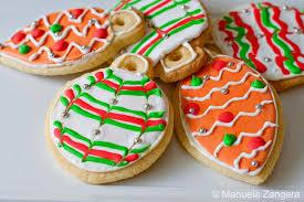 tree ornament sugar cookies
