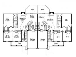 eplans country house plan rustic suburban duplex 2318 square