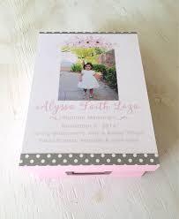 baptism memory box keepsake box baptism baby stats memory box baby girl gift