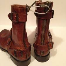 s frye boots sale 60 frye boots frye back zip cognac brown boots