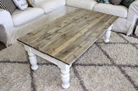 chunky farmhouse table legs coffee table ideas chunky farmhouse coffee table leg tables plans