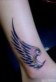guardian wing tattoos for ankle designs