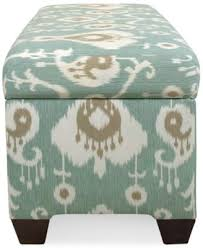 Skyline Storage Bench Skyline Calistoga Java Fabric Storage Bench Direct Ships For Just
