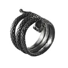 black rings images Black sterling silver snake ring carpe diem jpg