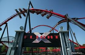 Fright Fest Six Flags Great America Newsparcs X Flight A New Wing Coaster From Bolliger