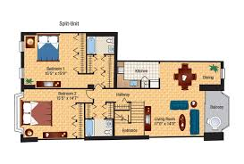 Two Bedroom Duplex The Envoy Floor Plans Columbia Plaza