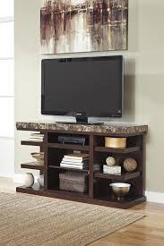 Dark Wooden Tv Stands Signature Design By Ashley Kraleene Dark Brown Large Tv Stand With