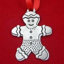 2015 Woodbury Gingerbread Man Pewter Ornament Silver Superstore