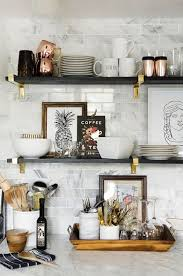 shelf decorations an interior stylist s glam midwest remodel kitchens shelves and