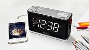 clock radio with night light itoma a12 alarm clock fm radio night light dual alarm phone usb
