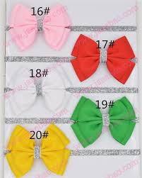 diy baby hair bows free shipping 50pcs new baby hair bow flower headband silver