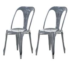 chaises m tal captivant chaise en m tal lot de 2 chaises industrielles grise metal