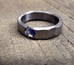 titanium jewelry rings images Titanium ring sapphire ring wedding ring engagement ring jpg