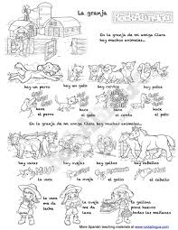 Spanish To English Worksheets Farm Animals Song In Spanish For Kids Rockalingua