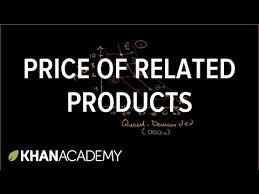 price of related products and demand khan academy