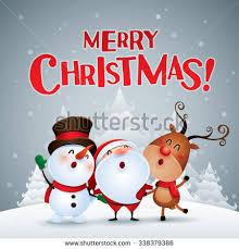 merry happy companions stock vector 338379386