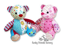 remembrance teddy bears how to sew a memory keepsake teddy funky friends factory